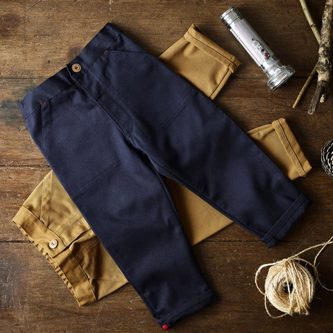 Cotton Utility Trouser - Light Navy
