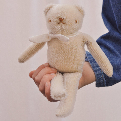 Handmade Mohair Floppy Bear - Cream