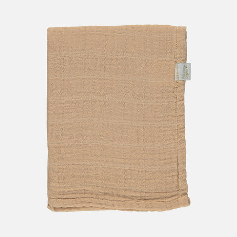 Organic Cotton Small Muslin/ Kids Scarf - Indian Tan