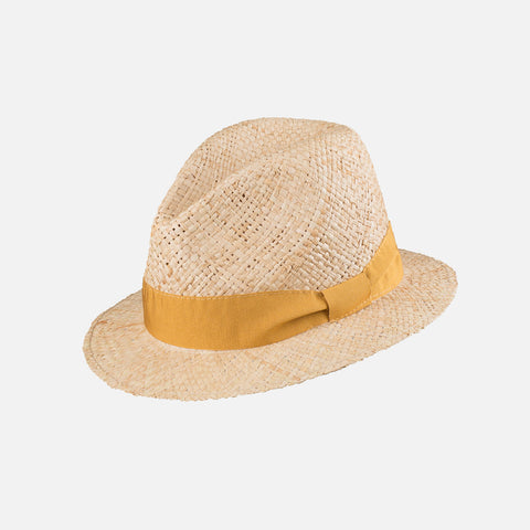 Adult's Straw Hat - Peach Blush