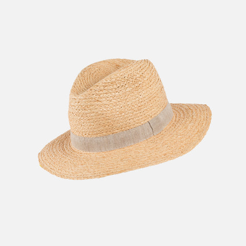 Adult's Wider Brim Straw Hat - Natural