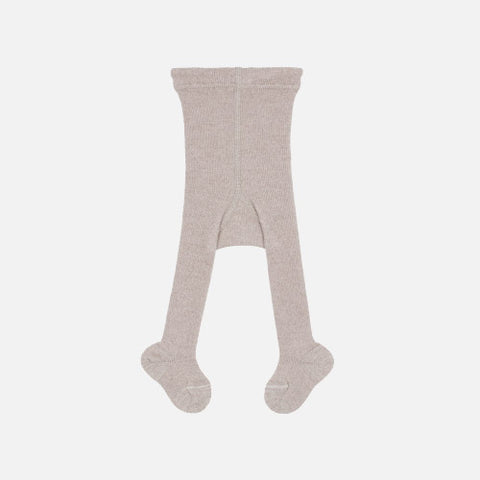 Fine Merino Wool/Cotton Kids Tights - Beige