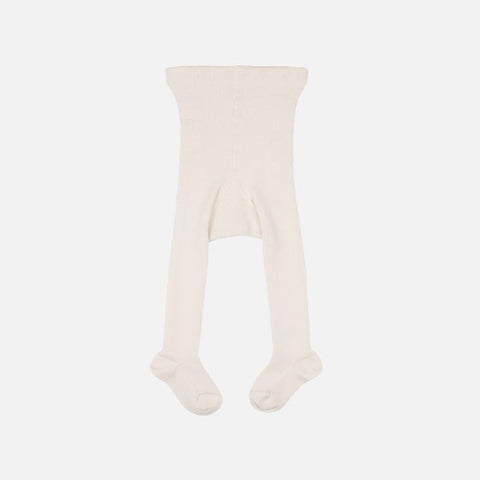 Fine Merino Wool/Cotton Baby Tights - Natural