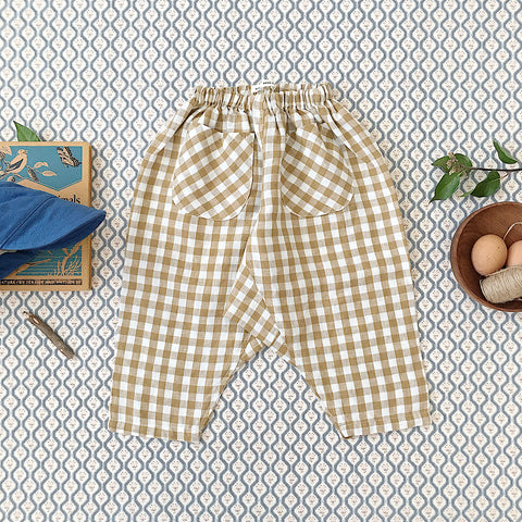 Linen Otto Trousers - Gingham