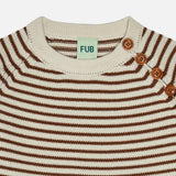 Merino Wool Sweater - Ecru/Umber