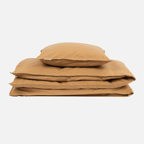 Organic Cotton Duvet & Pillow Cover - Oak - Junior Size
