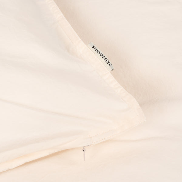 Organic Cotton Duvet & Pillow Cover - Powder - Single