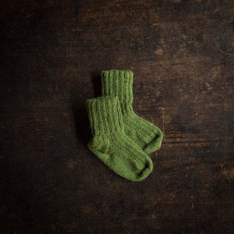 Hand-Knitted Alpaca Socks - Forest