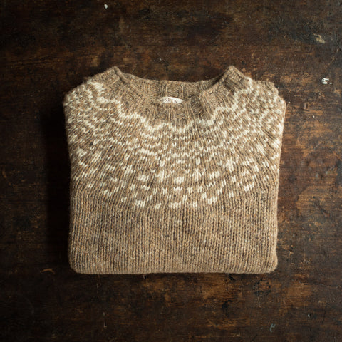 Adult's Merino Wool Isle Sweater - Oak