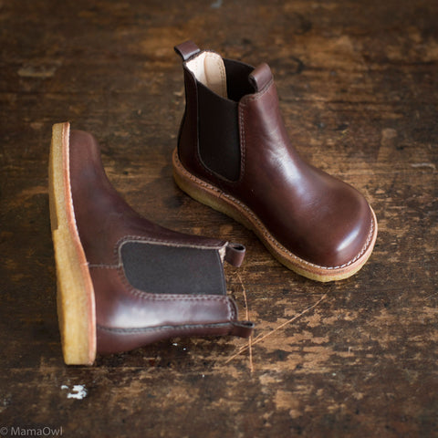 Chelsea Leather Boots - Dark Brown