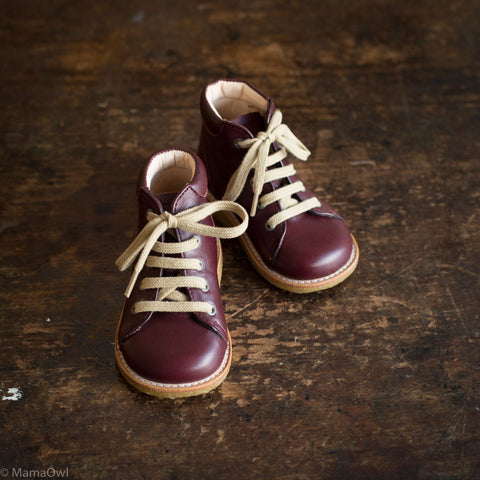 First Toddler Boots - Bordeaux - Normal Width -  20 (UK 4) - 25 (UK 8)