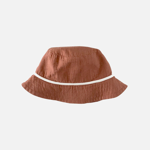 Organic Cotton Bucket Hat - Toffee
