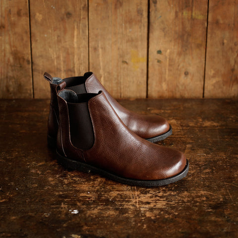 Women's Chelsea Boot - Dark Brown - 37-41