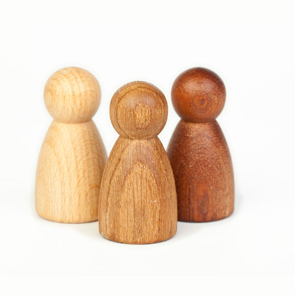 3 Wooden Nins - Natural