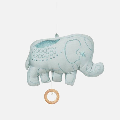 Elephant Musical Mobile - Dark Green