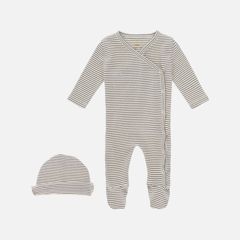 Organic Cotton Dio Newborn Romper & Hat - Ivy Green - 0-6m