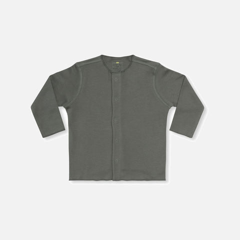 Organic Cotton Ebi Jersey Cardigan - Ivy Green