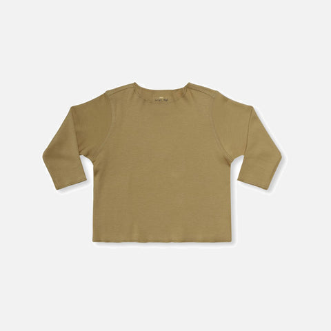 Organic Cotton Ebi Jersey Top - Mustard