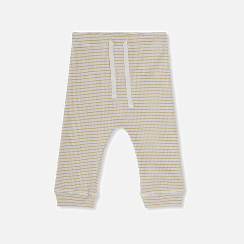Organic Cotton Rib Kaya Leggings - Mustard/Nature