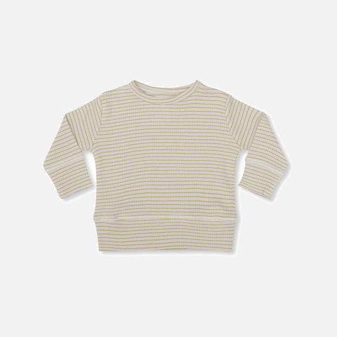 Organic Cotton Rib Kaya Top - Mustard/Nature
