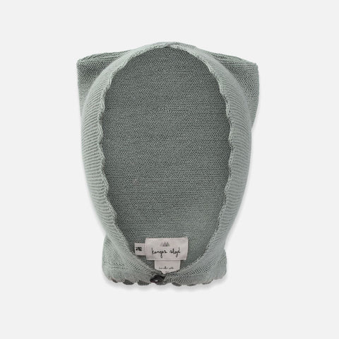 Merino Cat Bonnet Hat - Storm Grey