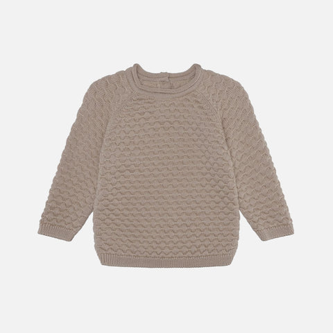 Merino Babur Bubble Knit Sweater - Bark
