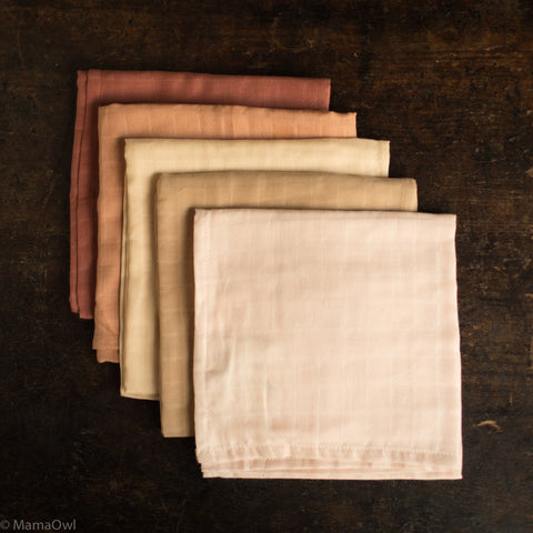 Organic Cotton Muslin - Many Colours