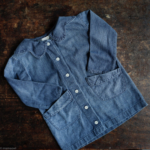 Cotton Flora Jacket - Dark Denim
