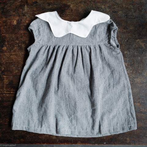 Cotton Jane Dress - Indigo Slub Yarn Dye