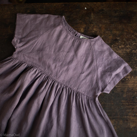 Handmade Linen River Dress - Amethyst