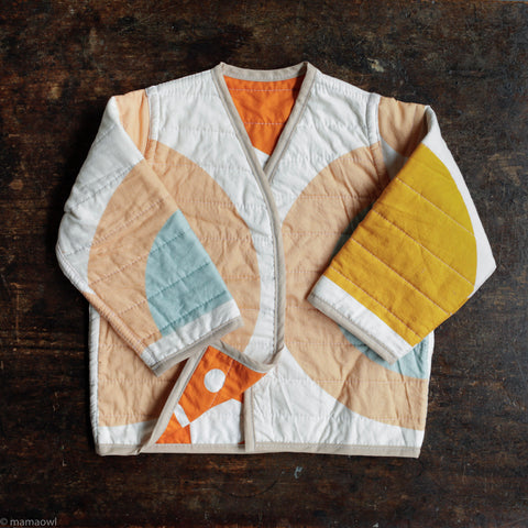 Handmade Reversible Cotton Quilted Jacket - Shapes And Angles