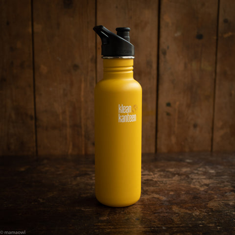 Stainless Steel Classic Water Bottle - 800ml - Lemon Curry