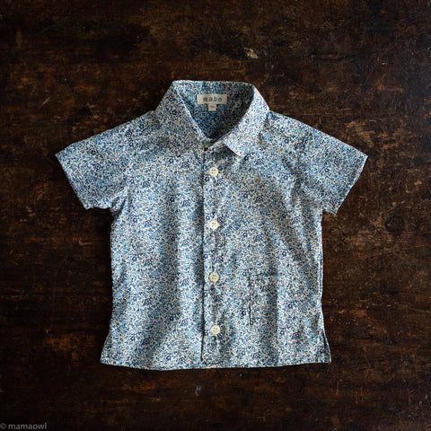 Cotton Buttondown Shirt - Katie & Millie Floral Liberty