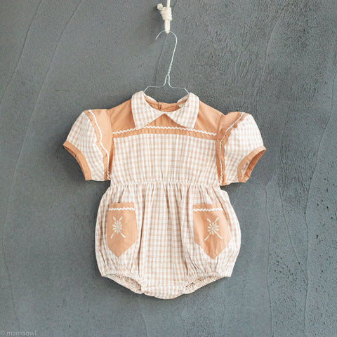 Cotton Nellie Romper - Picnic Check