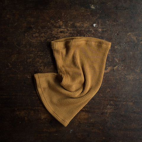 Merino Wool Heavy Rib Snood - Ochre