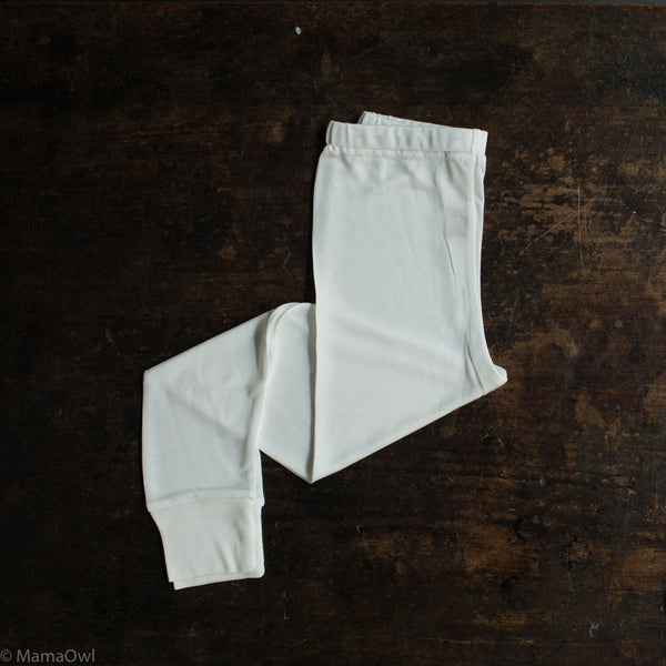 Organic Silk Jersey Leggings - Natural White