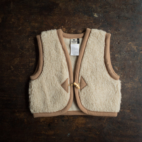 Organic Merino Wool Teddy Fleece Vest - Oatmeal