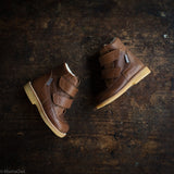 Wool Lined Waterproof Leather Boots - Cognac