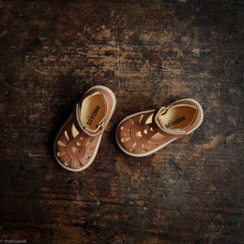 Toddler Heart Sandal - Tan