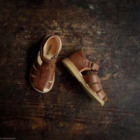 Fisherman Kids Sandals - Cognac