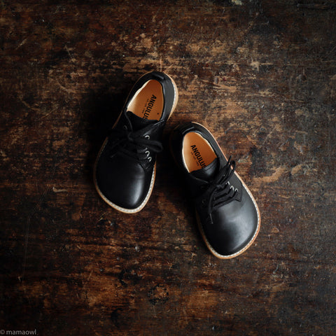 Lace-up Kids Shoe - Black