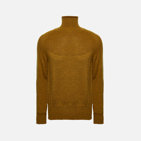 Adult's Alpaca/Merino Wool Sailor Sweater - Dijon