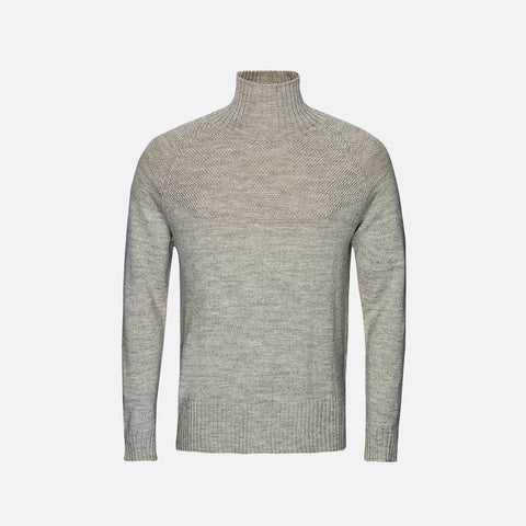Adult's Alpaca/Merino Wool Sailor Sweater - Light Grey