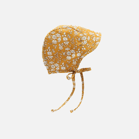 Cotton Brimmed Bonnet - Buttercup