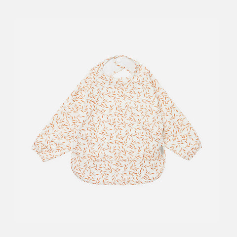 Long Sleeved Bib - Caramel Leaves