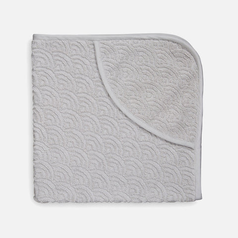 Organic Cotton Hooded Toddler Towel - Grey
