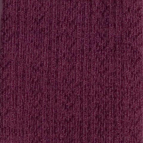 Wool Pointelle Tights - Aubergine