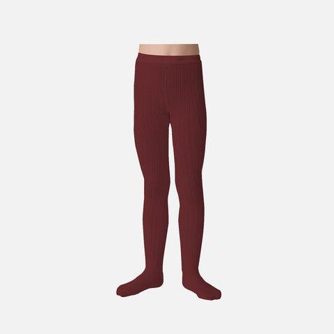 Babies & Kids Rib Tights - Chestnut