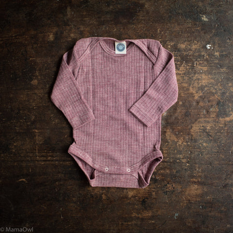 Organic Merino Wool, Cotton & Silk Body - Plum