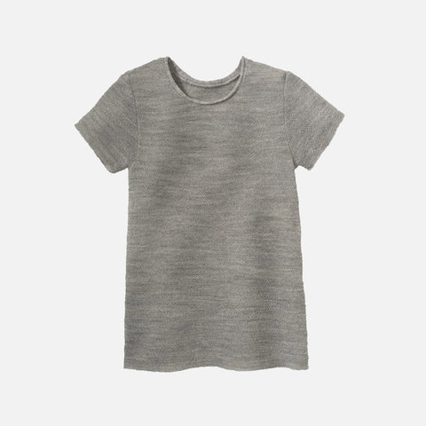 Organic Merino Wool SS Top - Light Grey